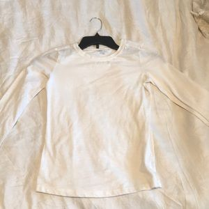 Plain White Long-Sleeve Shirt